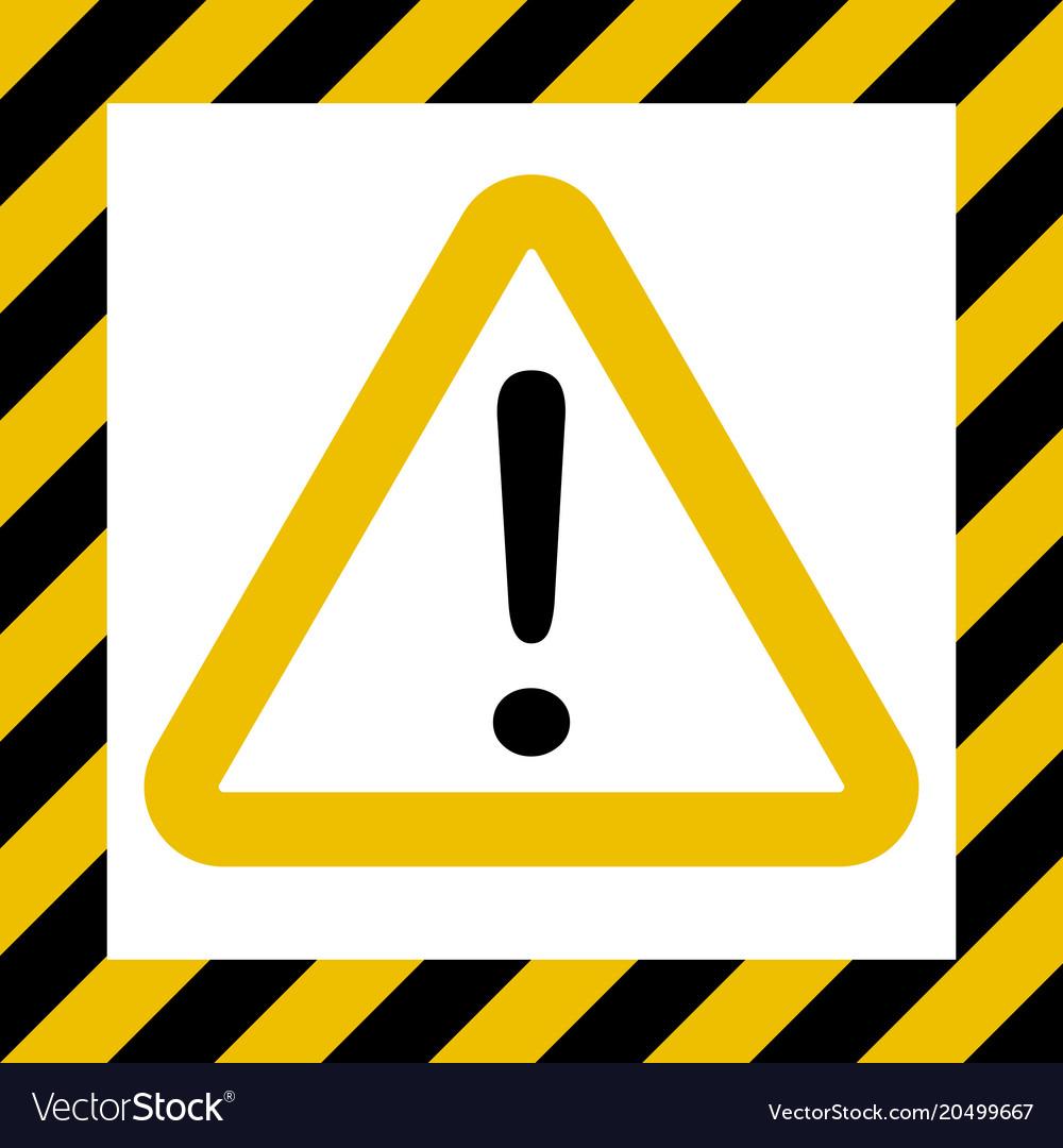 hazard sign exclamation warn caution construction vector image