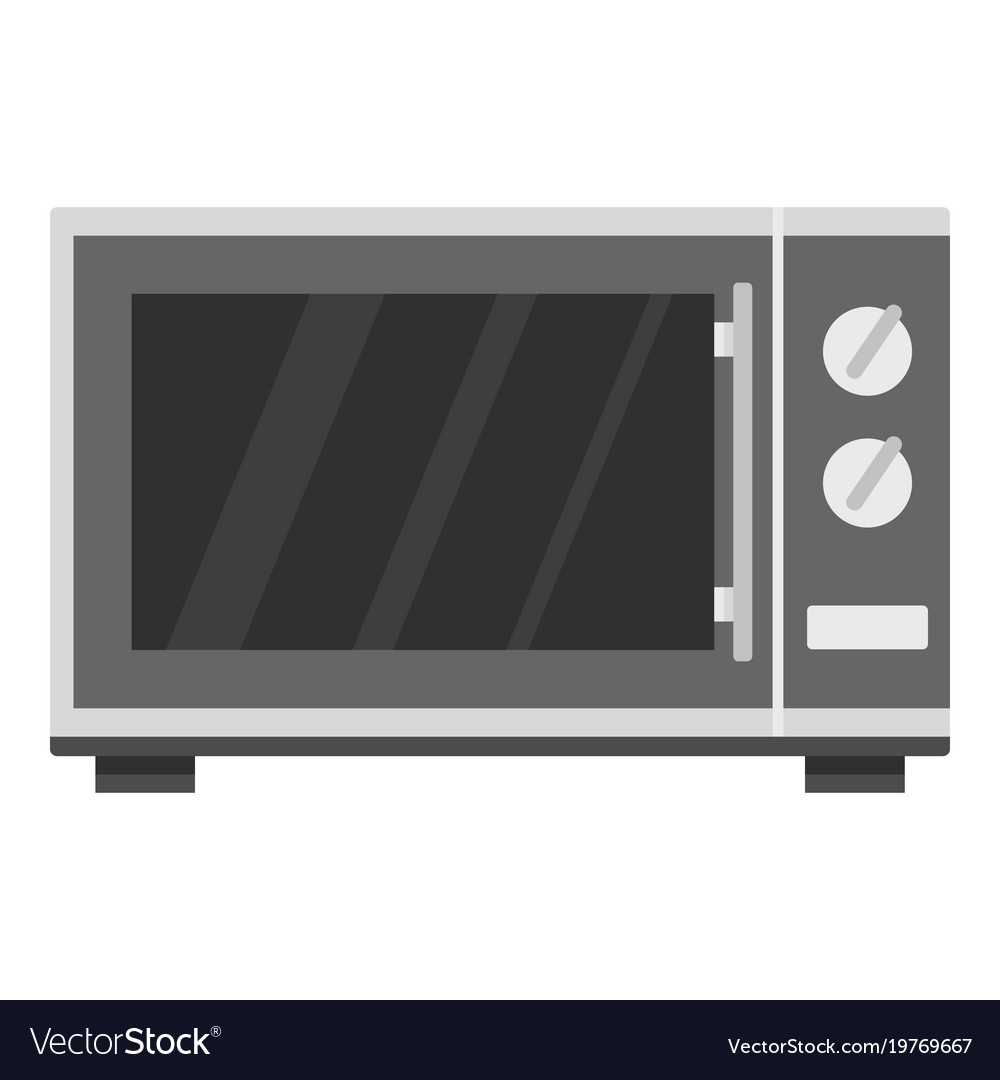 kitchen microwave oven icon cartoon style vector image
