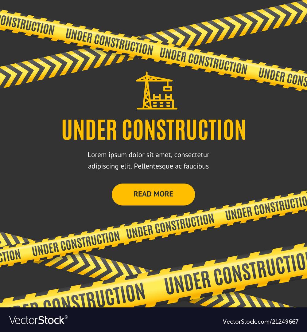 Site under construction background card