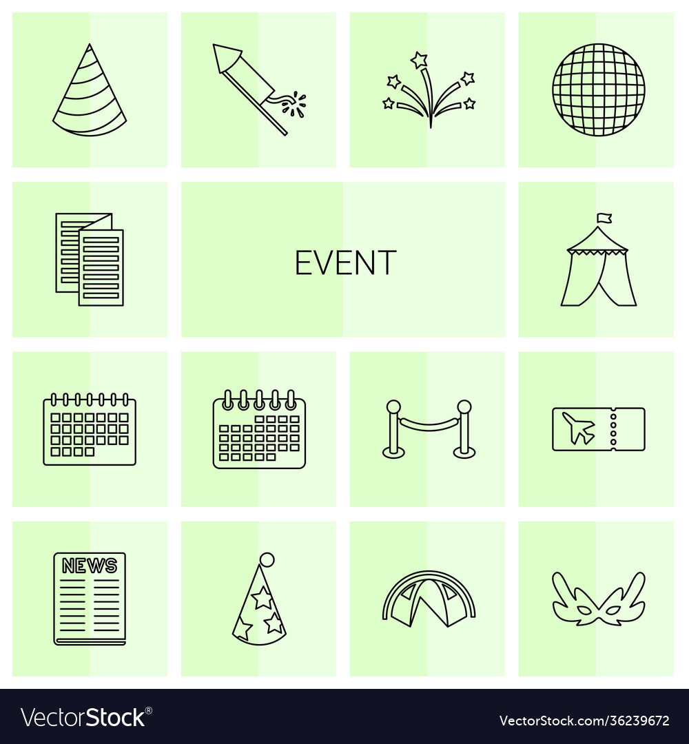 14 event icons