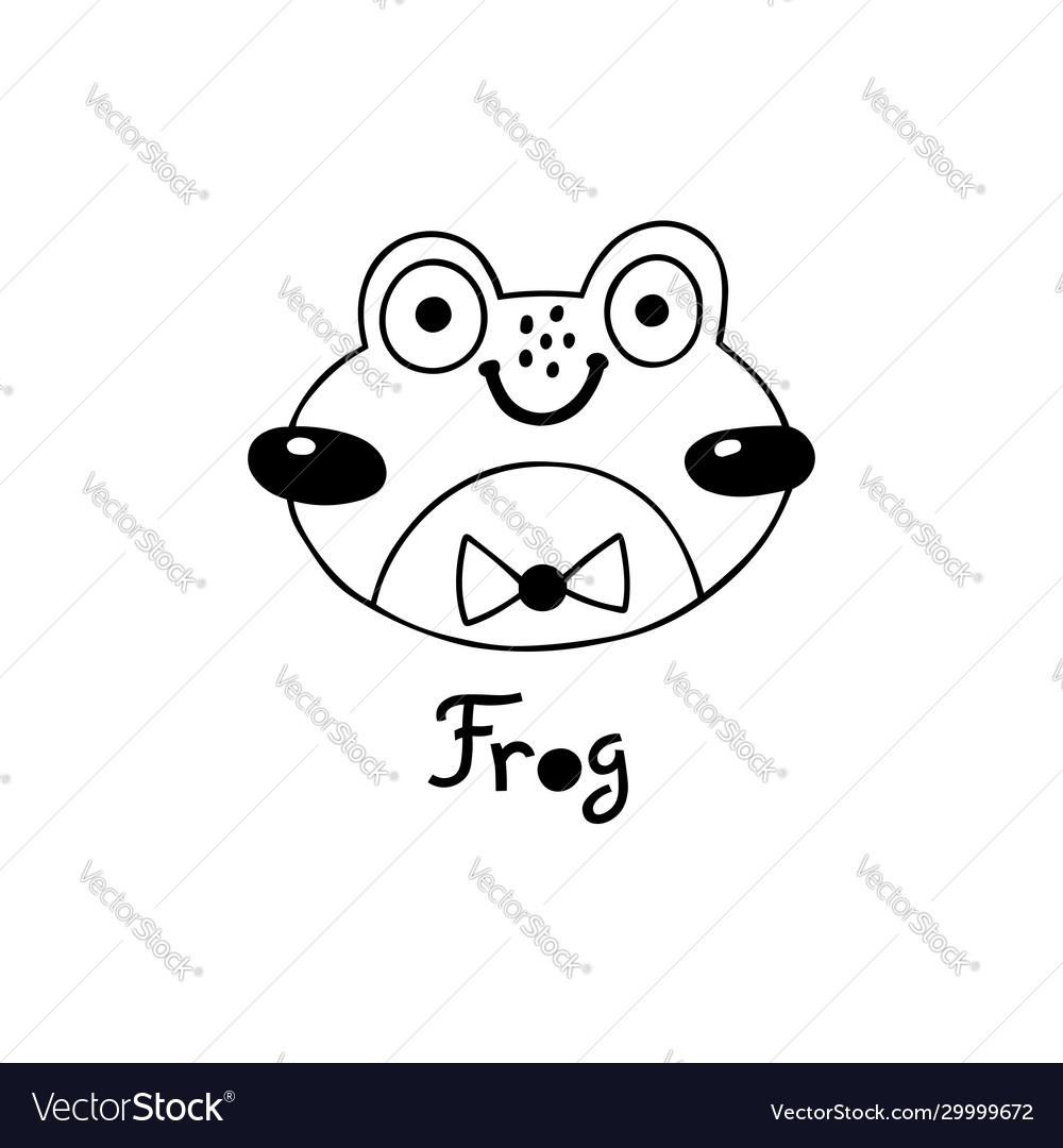 Avatar cute face frog portrait