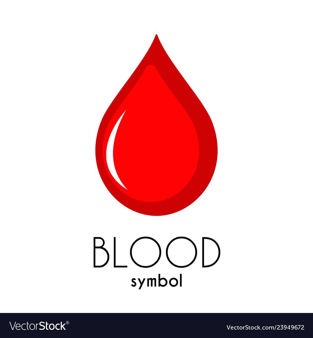 Blood icon red flat drop symbol