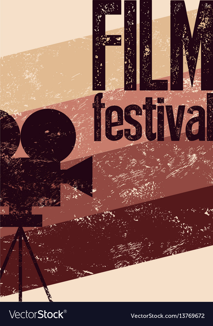 Film festival retro typographical grunge poster