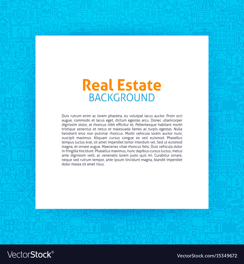 Real estate paper template