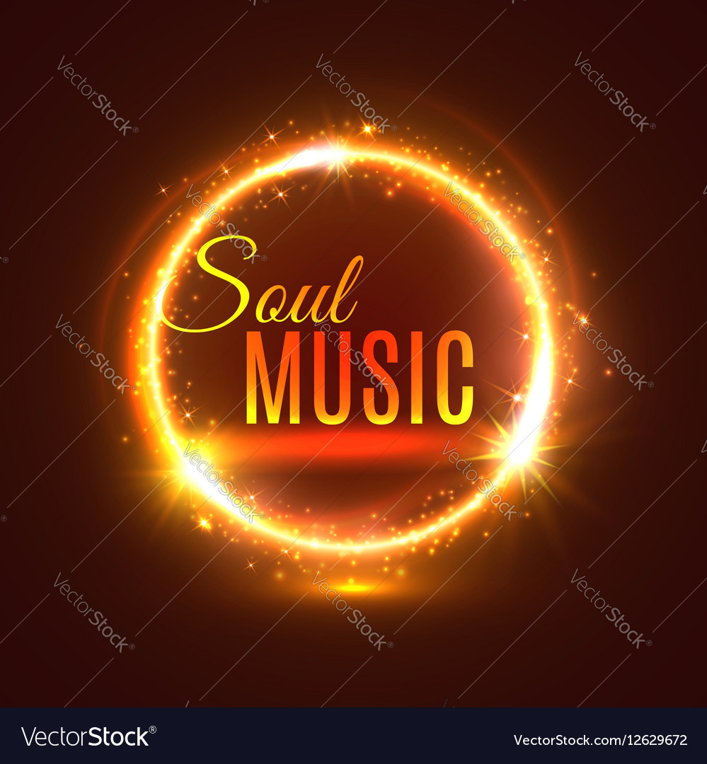 Soul music poster with light shine