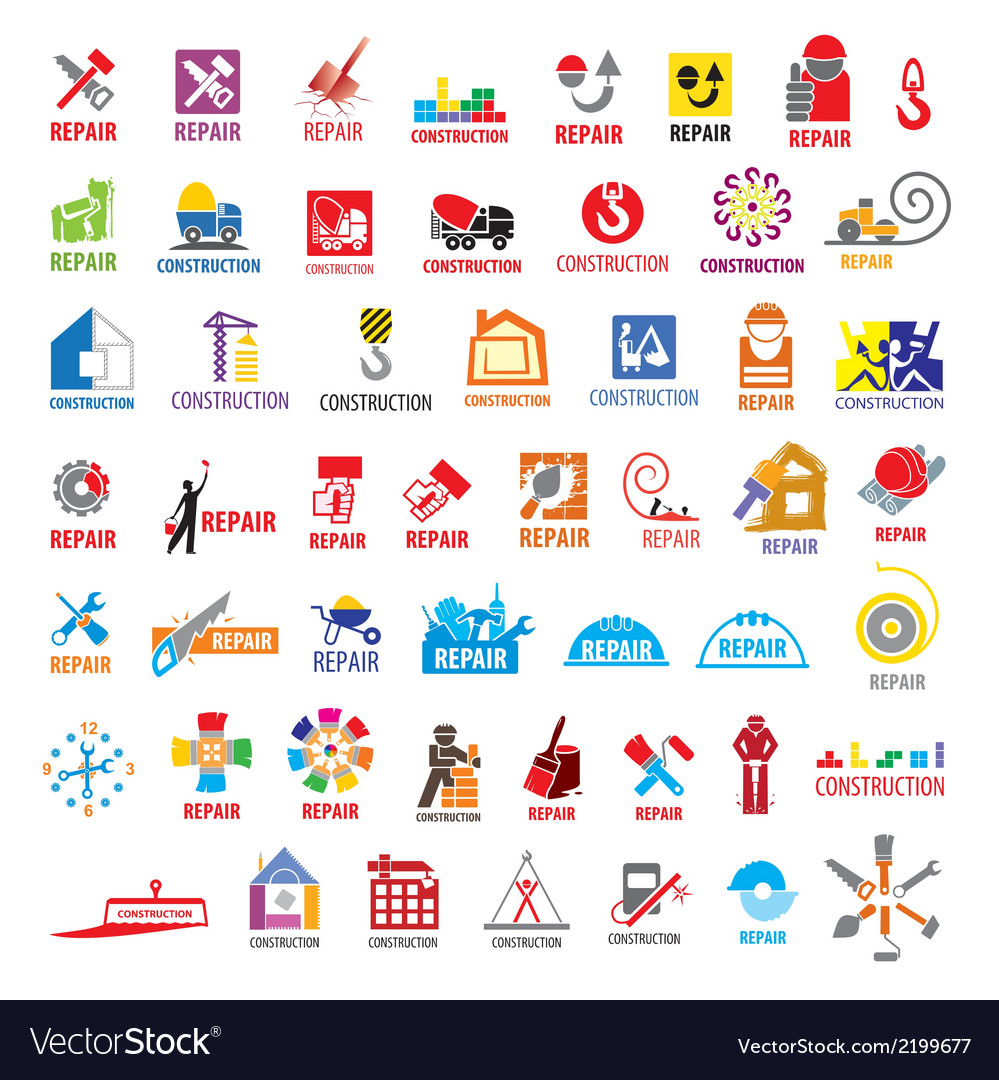 Biggest collection of logos construction