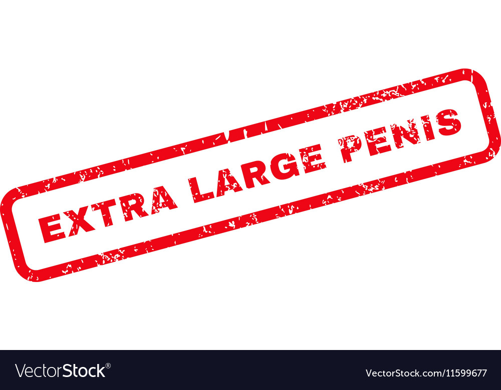 Extra Large Penis Text Rubber Stamp