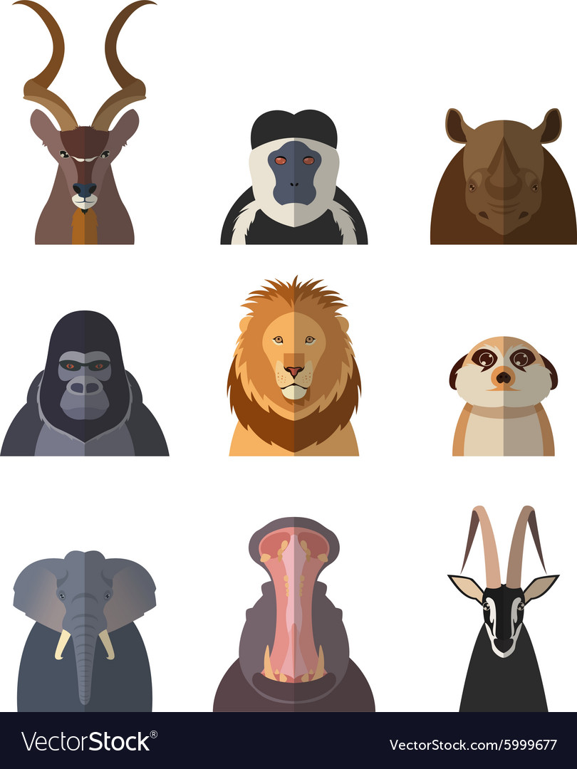 Icons of african animals1