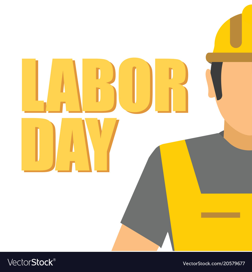 Labor day worker yellow background image