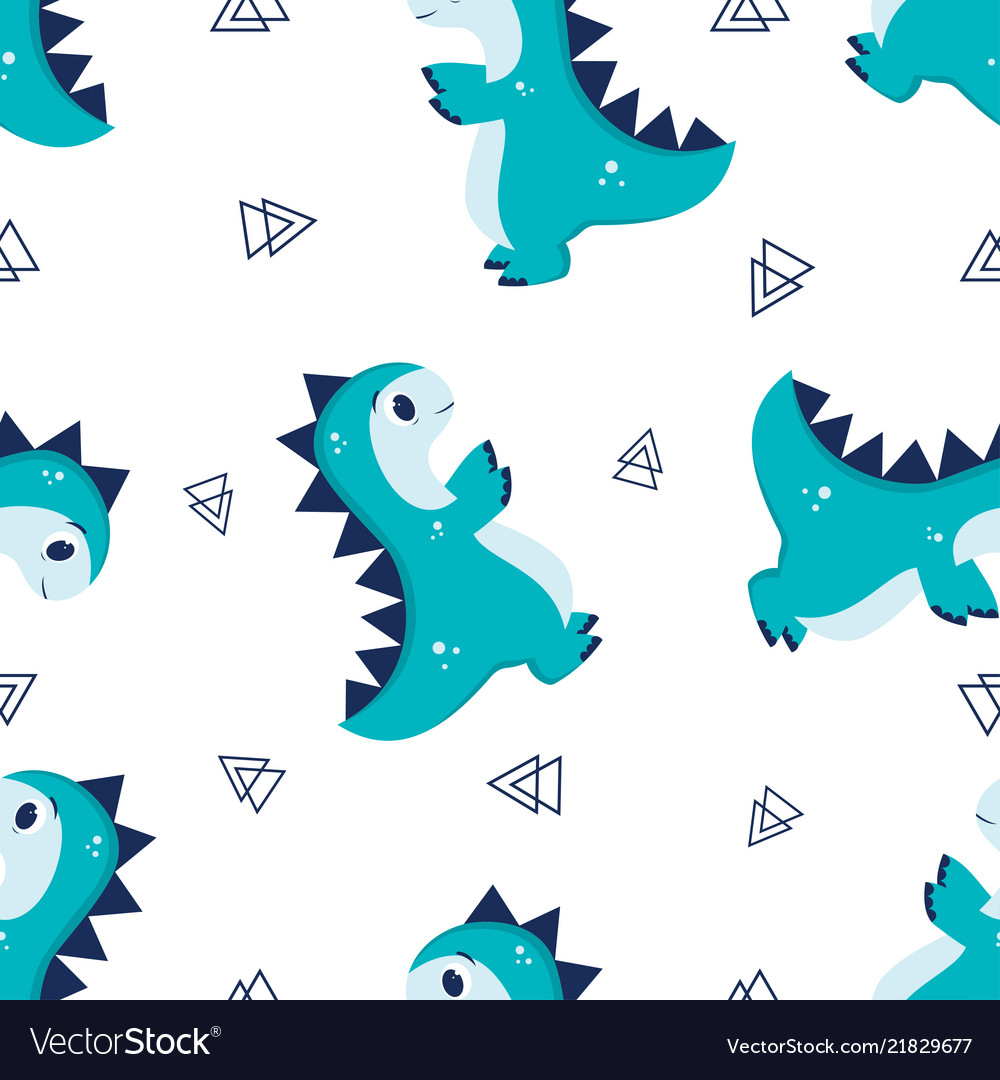 Pattern with little dino