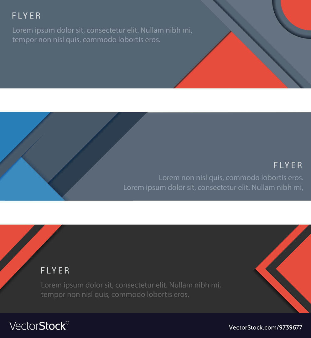 Set material design card and banners