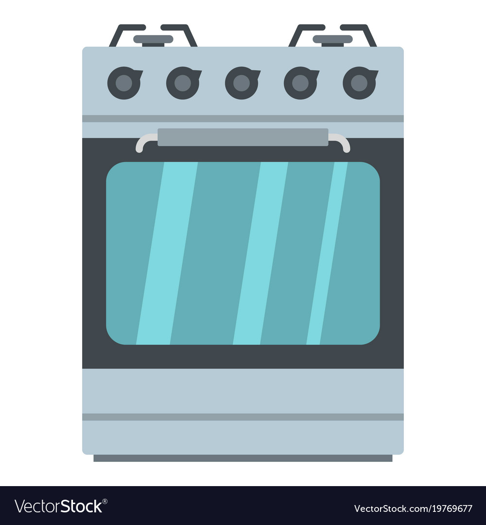 small gas oven icon cartoon style royalty free vector image