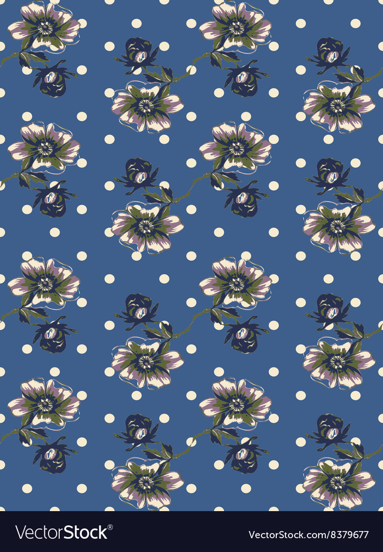 Vintage wallpaper seamless rose flower pattern