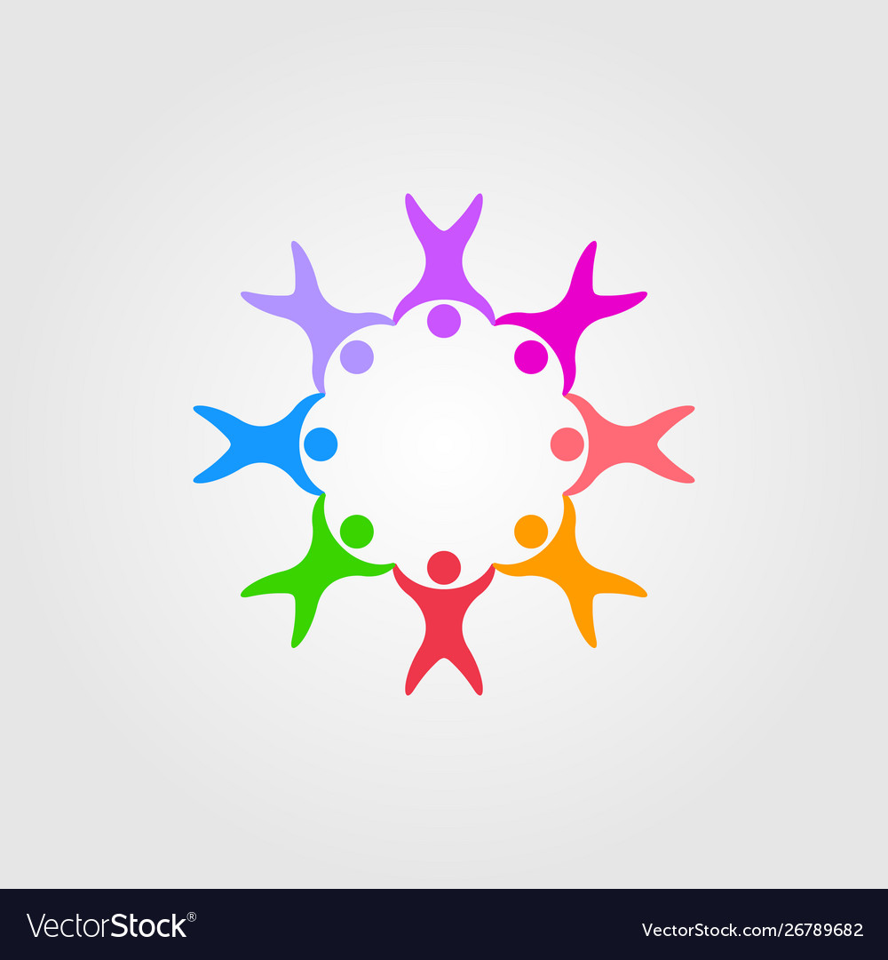 Circle people family together human unity logo