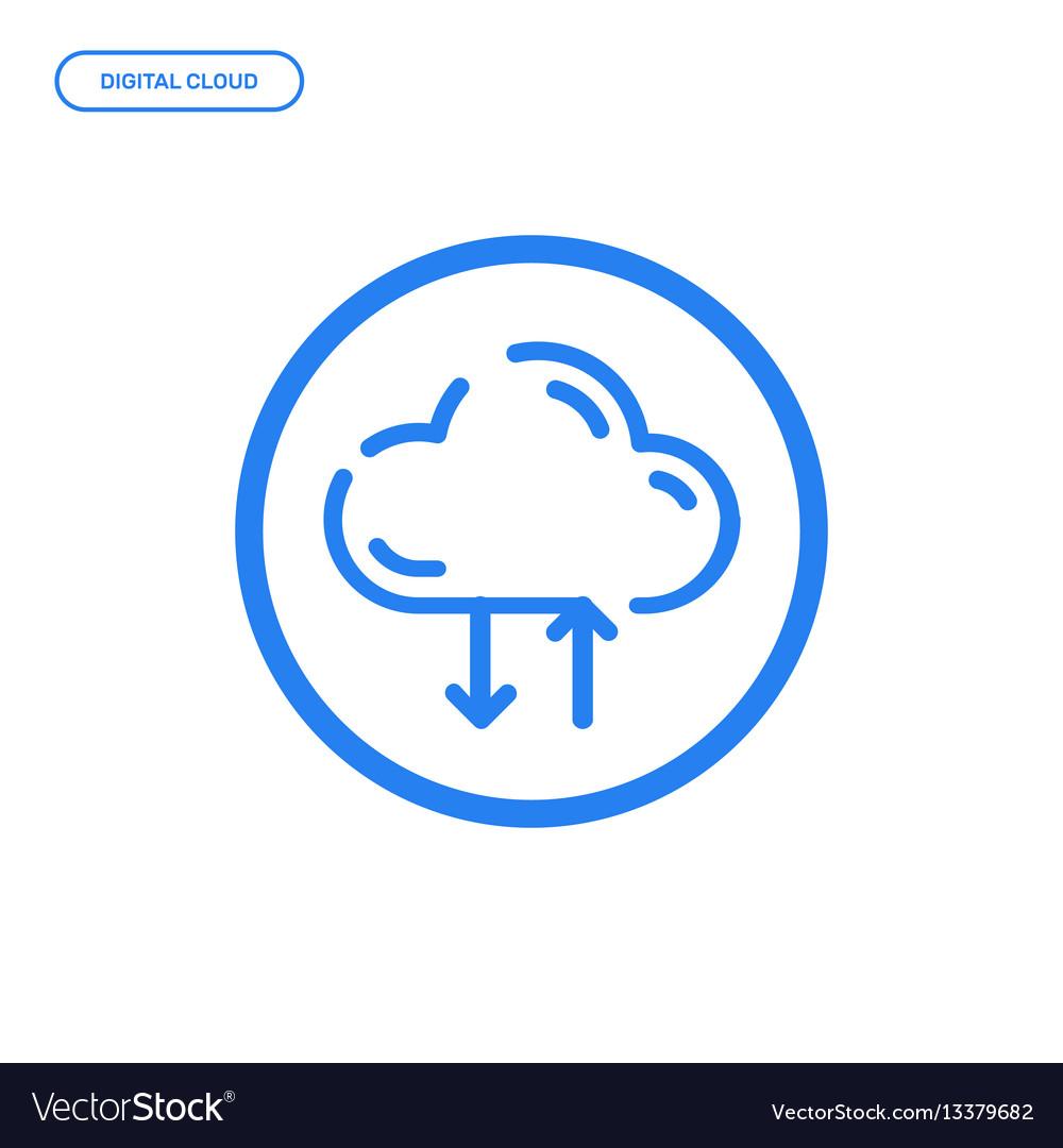 Flat line icon graphic