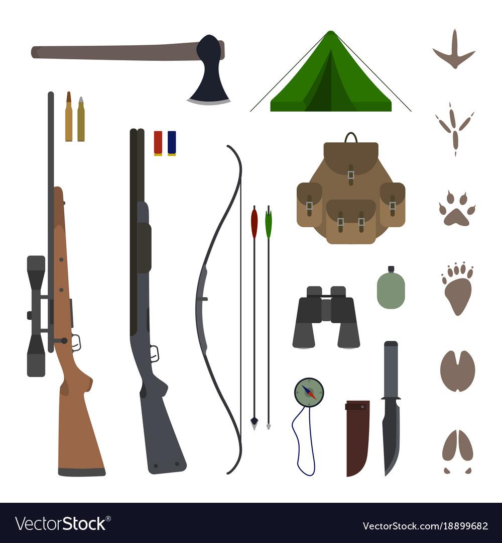 Hunting equipment kit flat