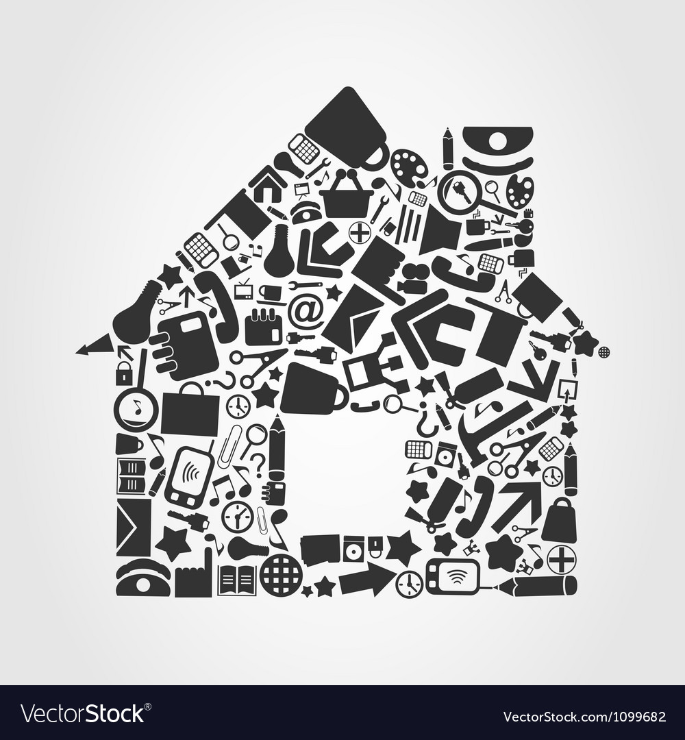 Office the house vector image