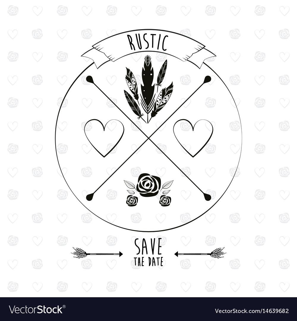 Save the date card invitation festive image