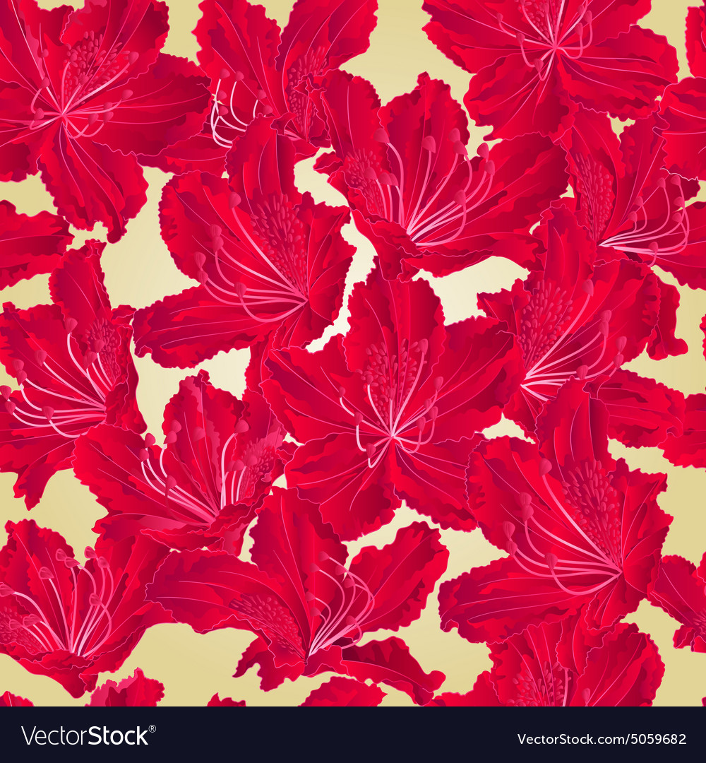 Seamless texture rhododendron red flower