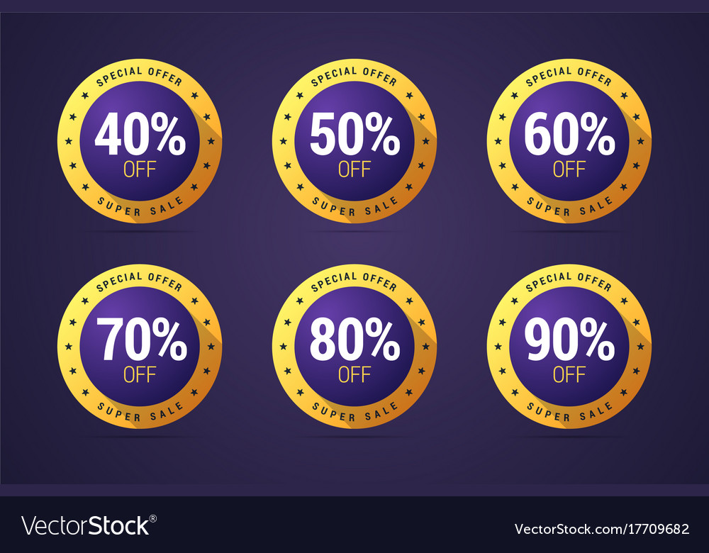 Set of the isolated medals badges stamps for
