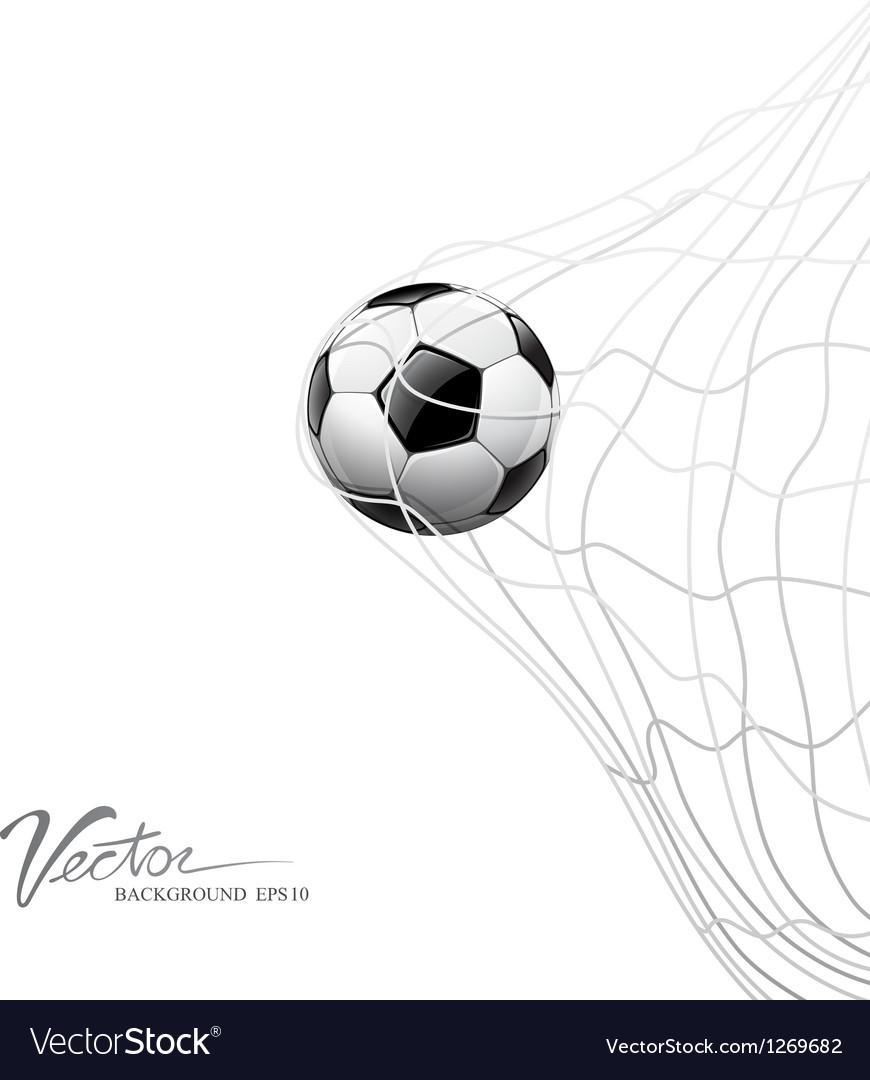 Soccer ball in net on goal