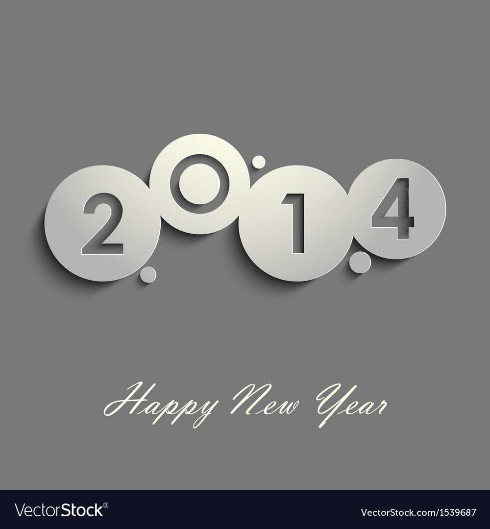 Abstract gray New Years wishes vector image