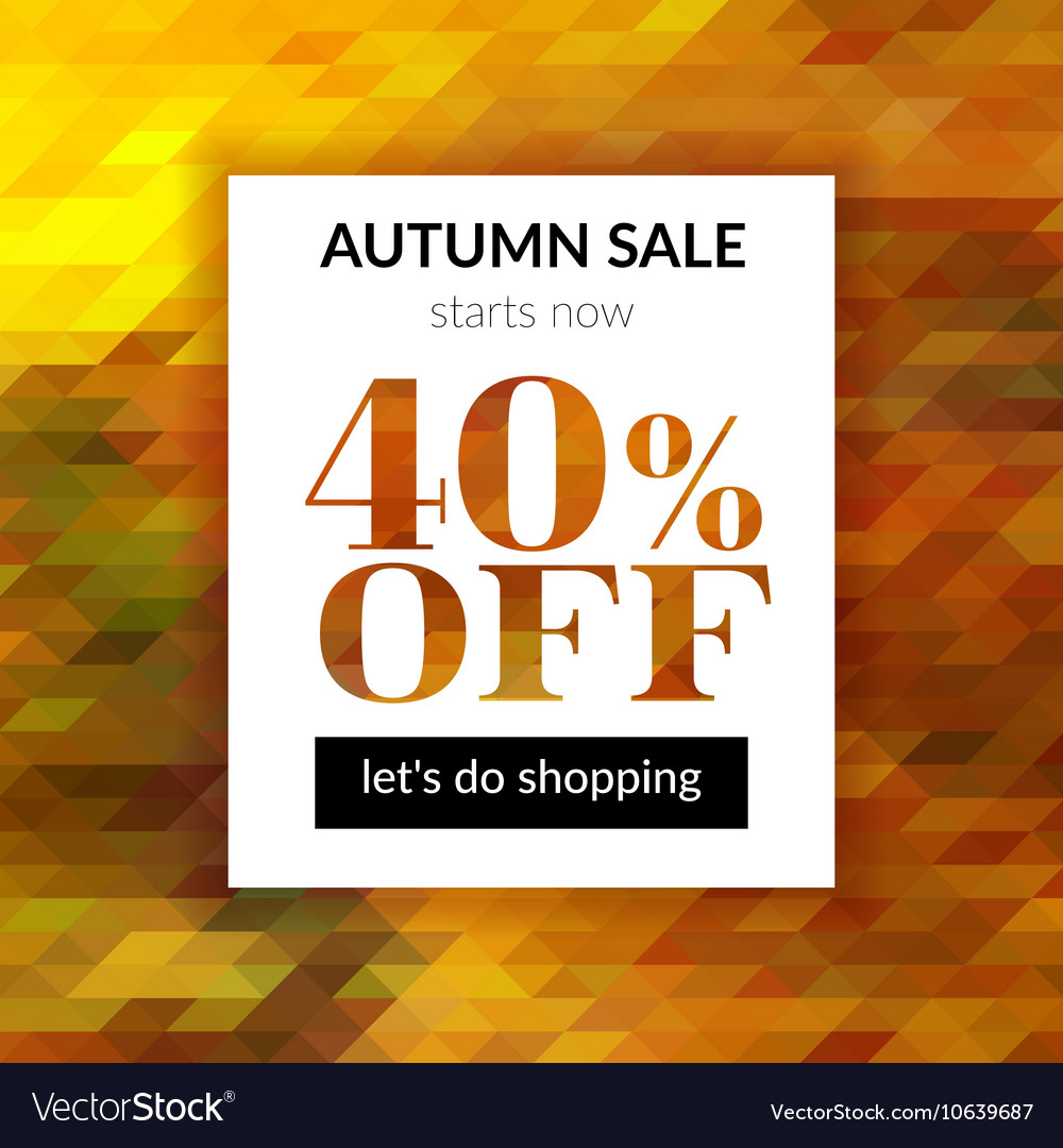 Autumn sale background with abstract background