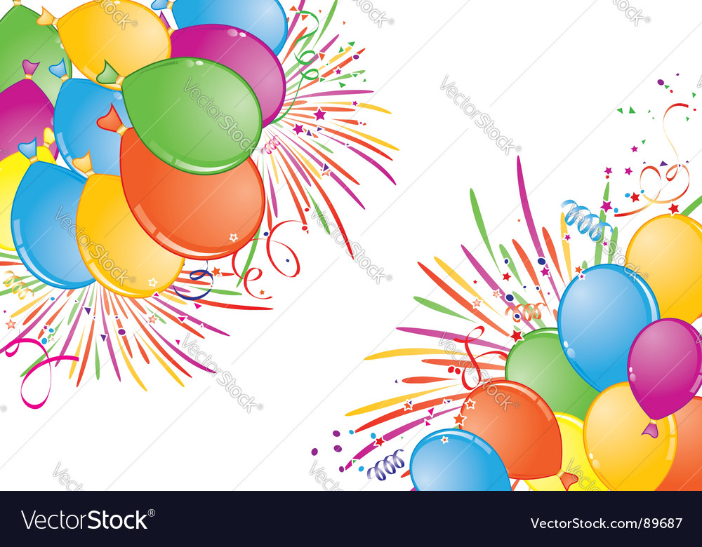 Birthday frame Royalty Free Vector Image - VectorStock