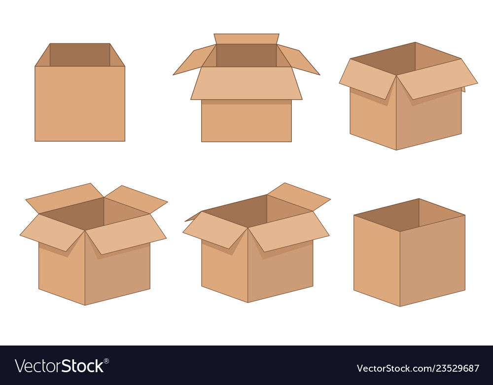 Carton delivery and storage packaging open box set