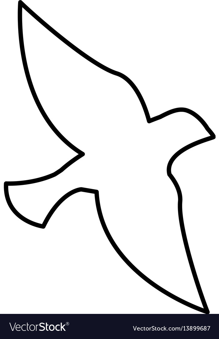 Dove silhpuette isolated icon