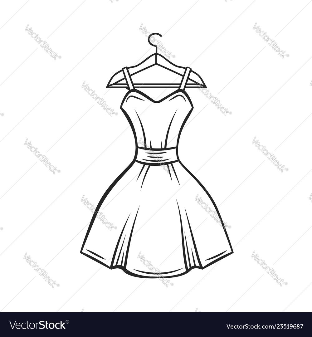 Dress hanger outline
