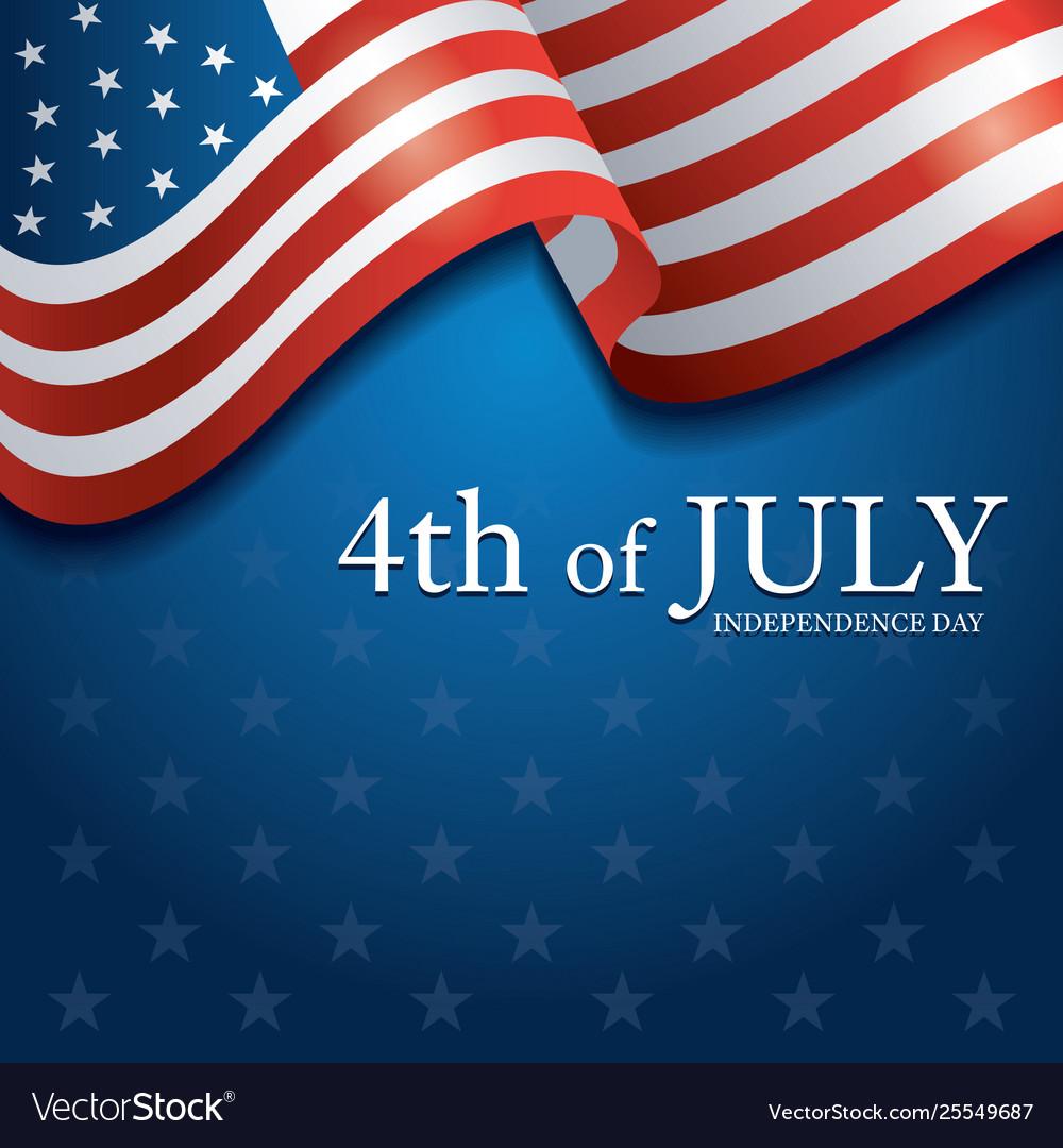 Flag united states america 4th july