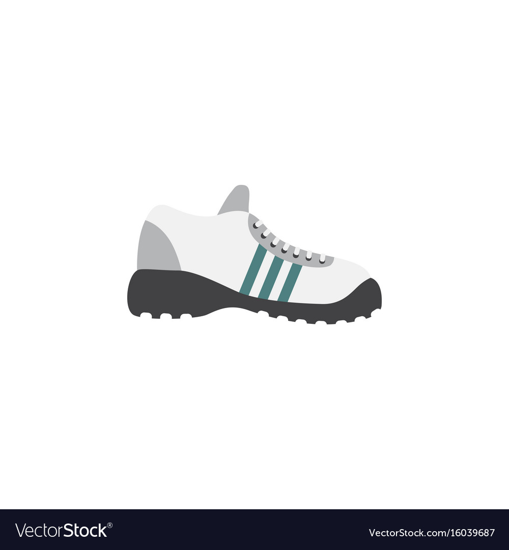 Isolated gumshoes flat icon sneakers