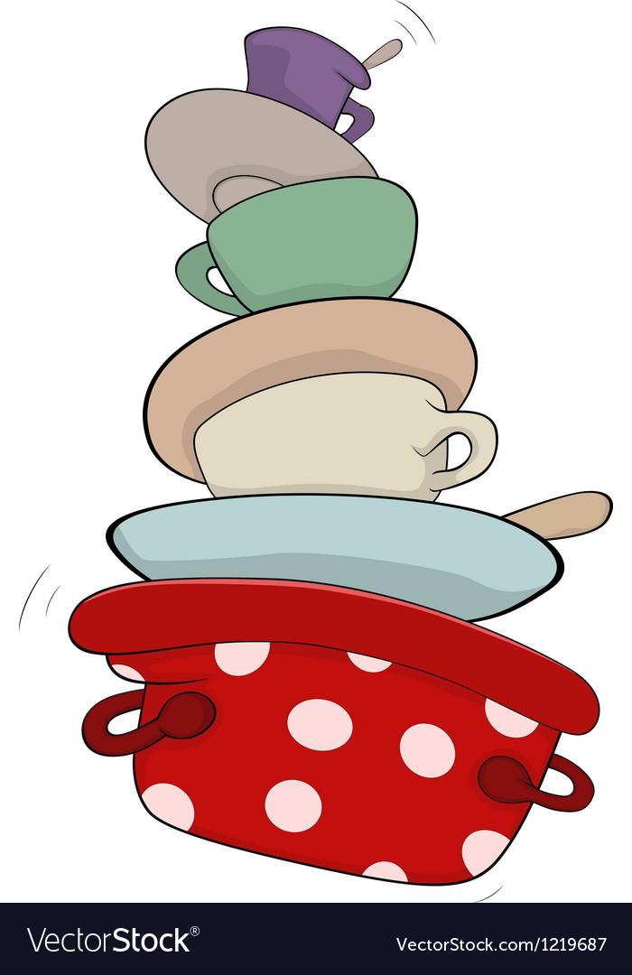 Kitchenware cartoon vector image