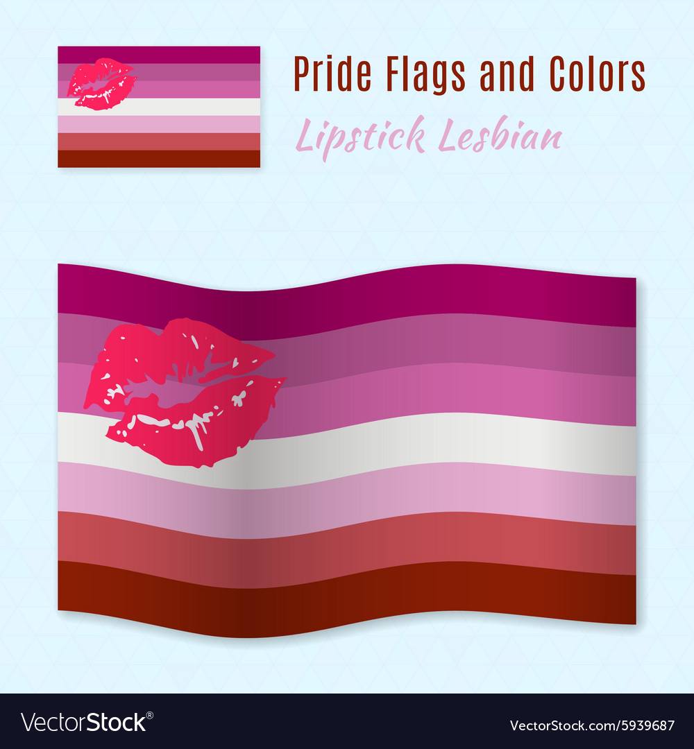 Lipstick Lesbian pride flag with correct color vector image