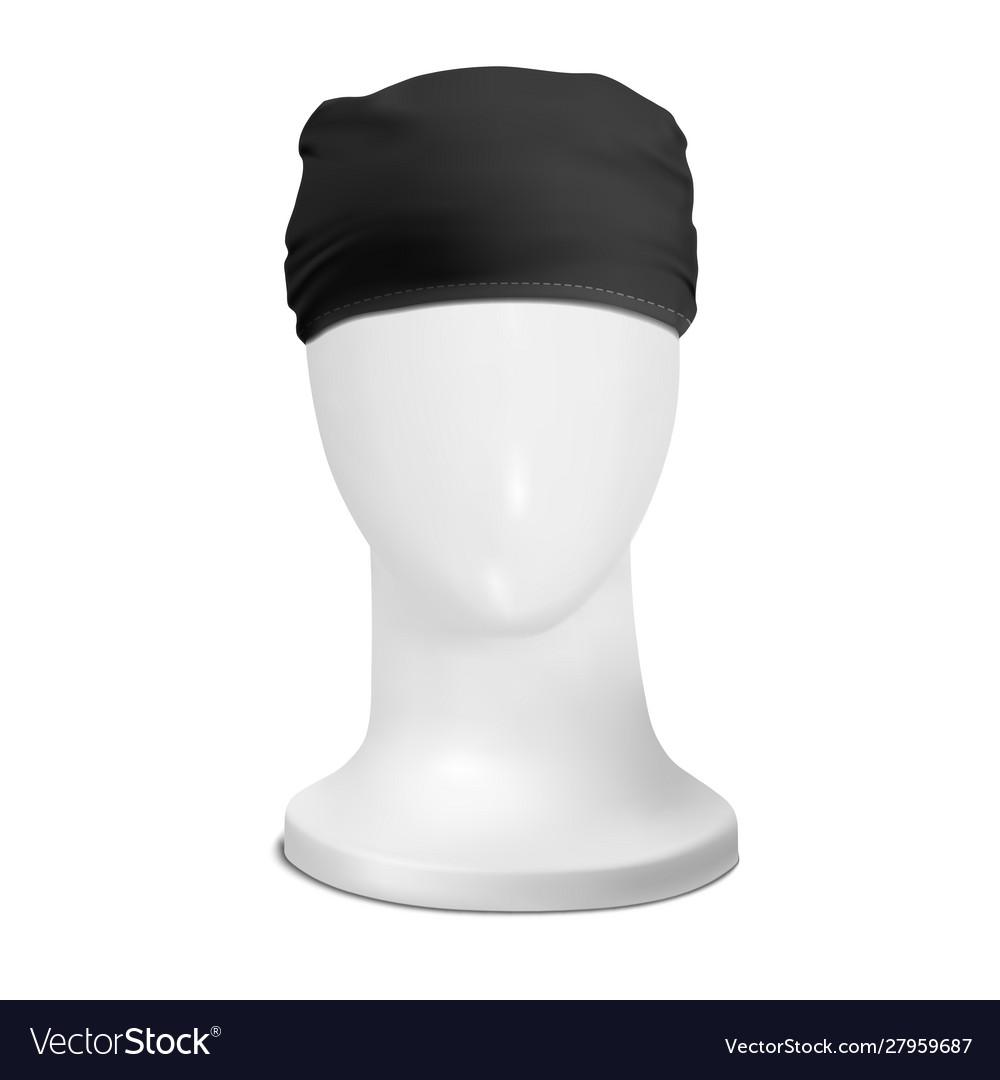 Mock up black bandana buff on manekenium