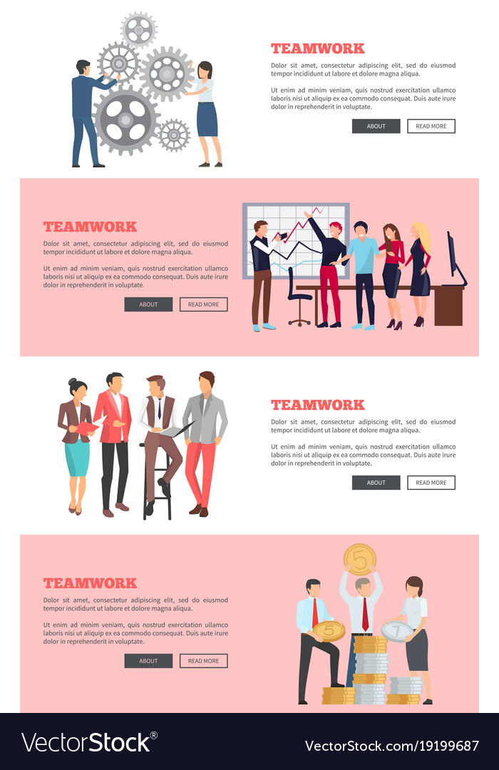 Teamwork web page design on