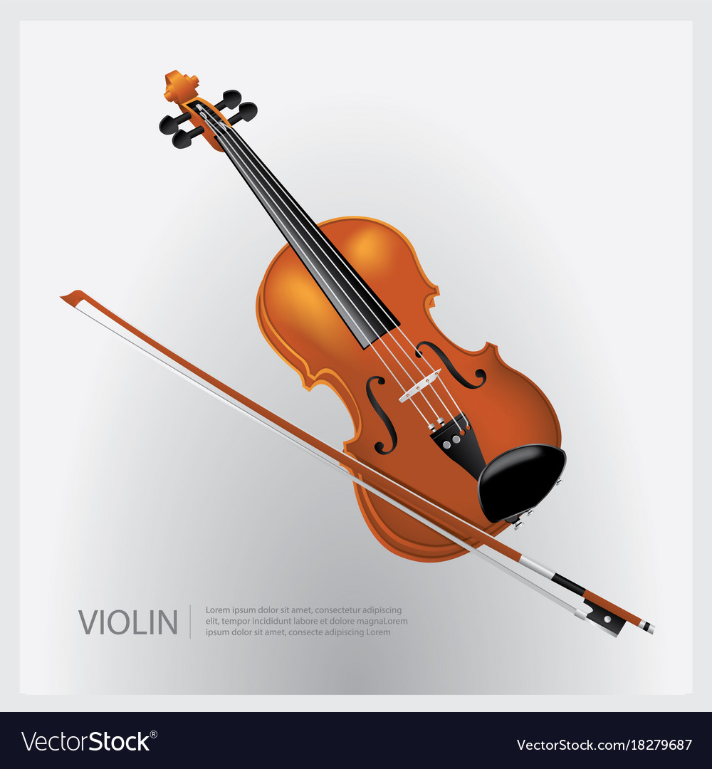 The musical instrument realistic violin