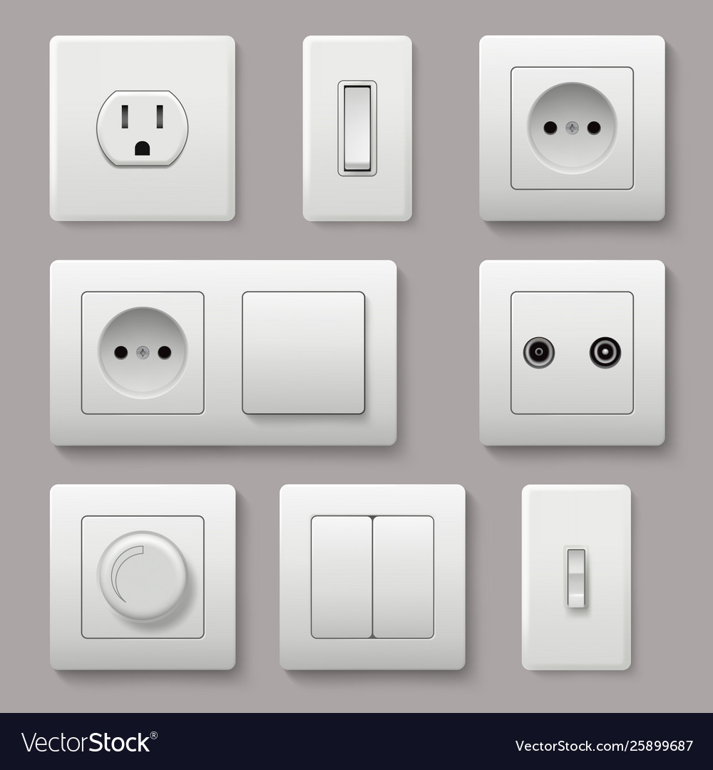 Wall switch power electrical socket electricity
