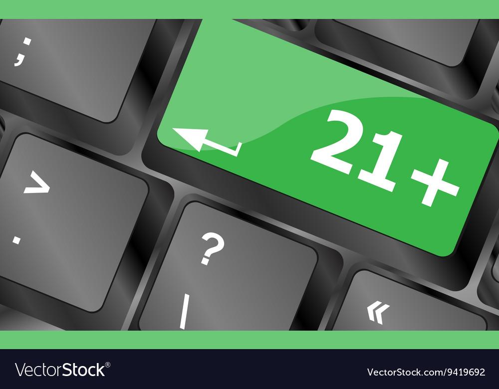21 plus button on computer keyboard keys Keyboard