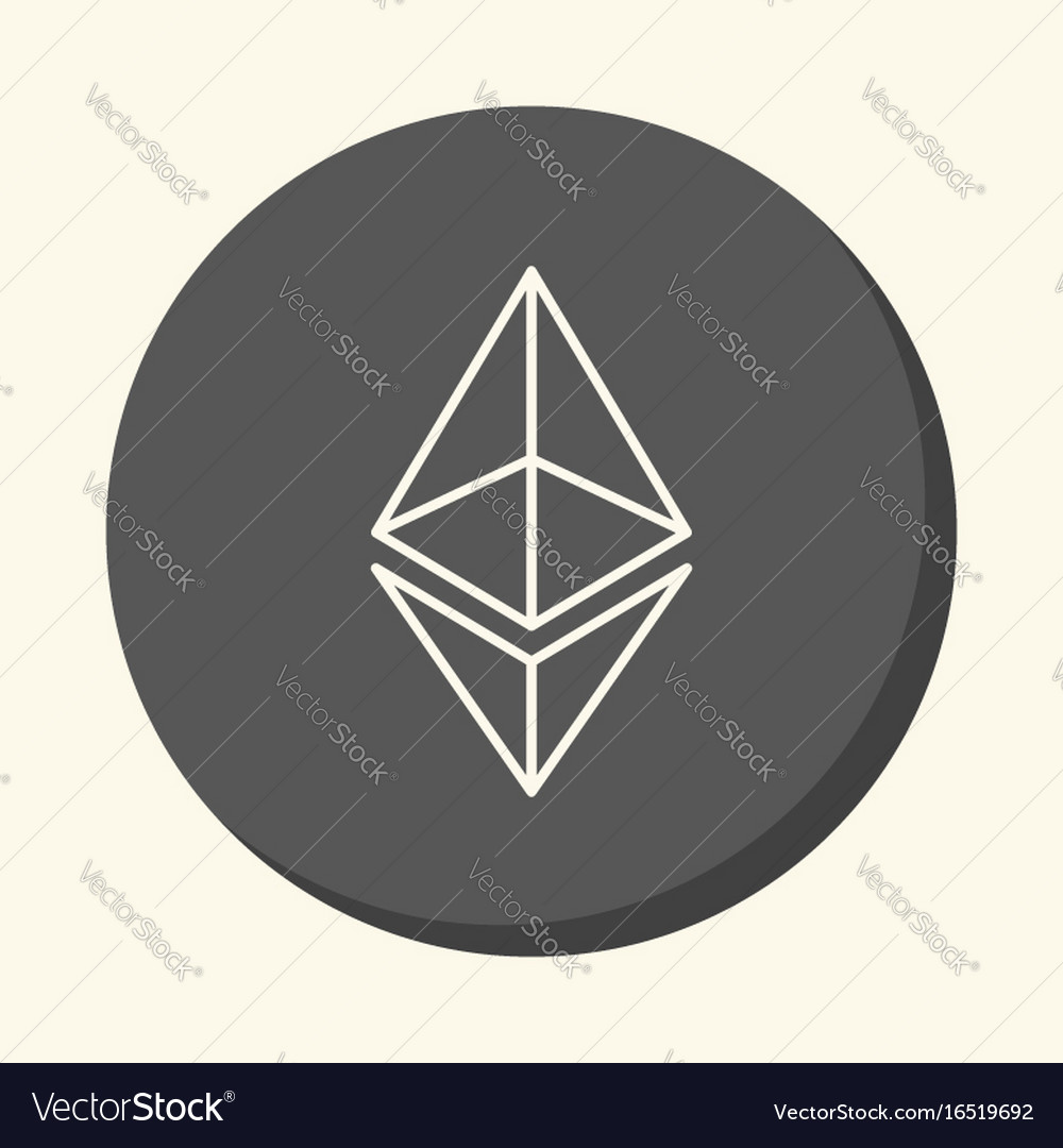 Modified symbol of digital crypto currency vector image