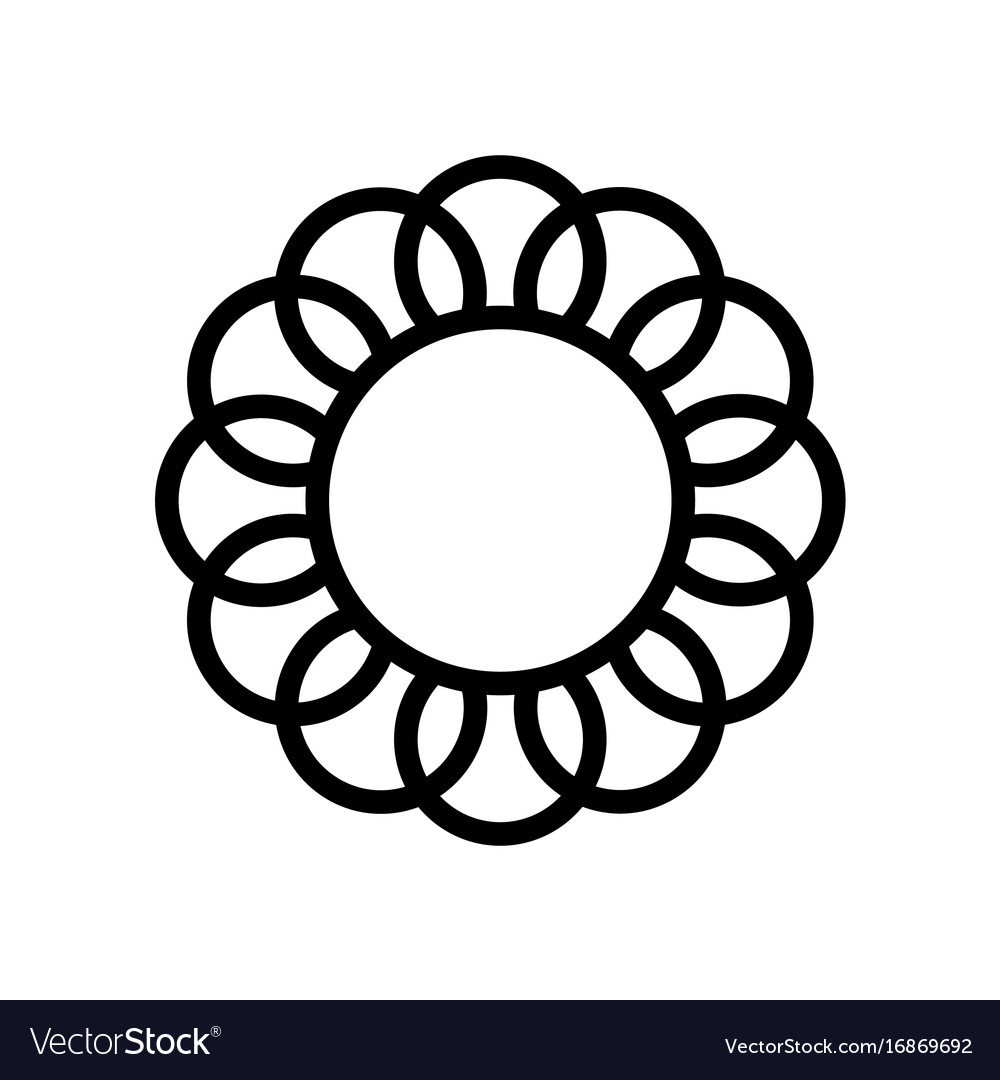 Premium flower logo icon design frame vector image