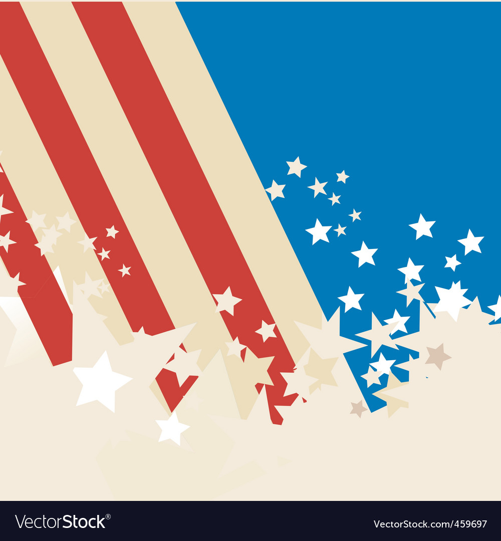 american flag background royalty free vector image