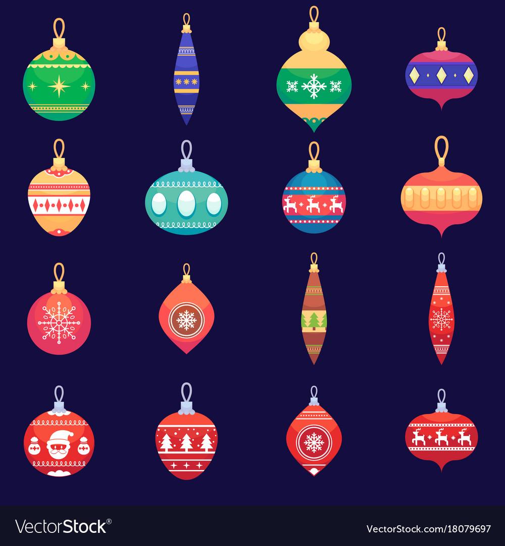 Christmas tree toys new year xmas balls set