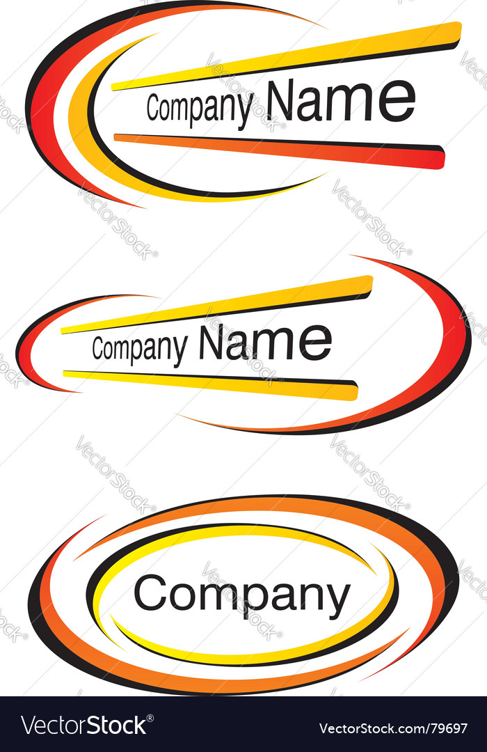Corporate logo templates vector image