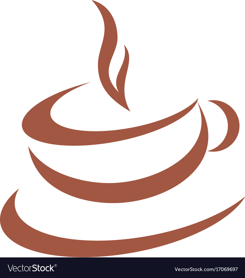Cup coffee cafe abstract logo vector image