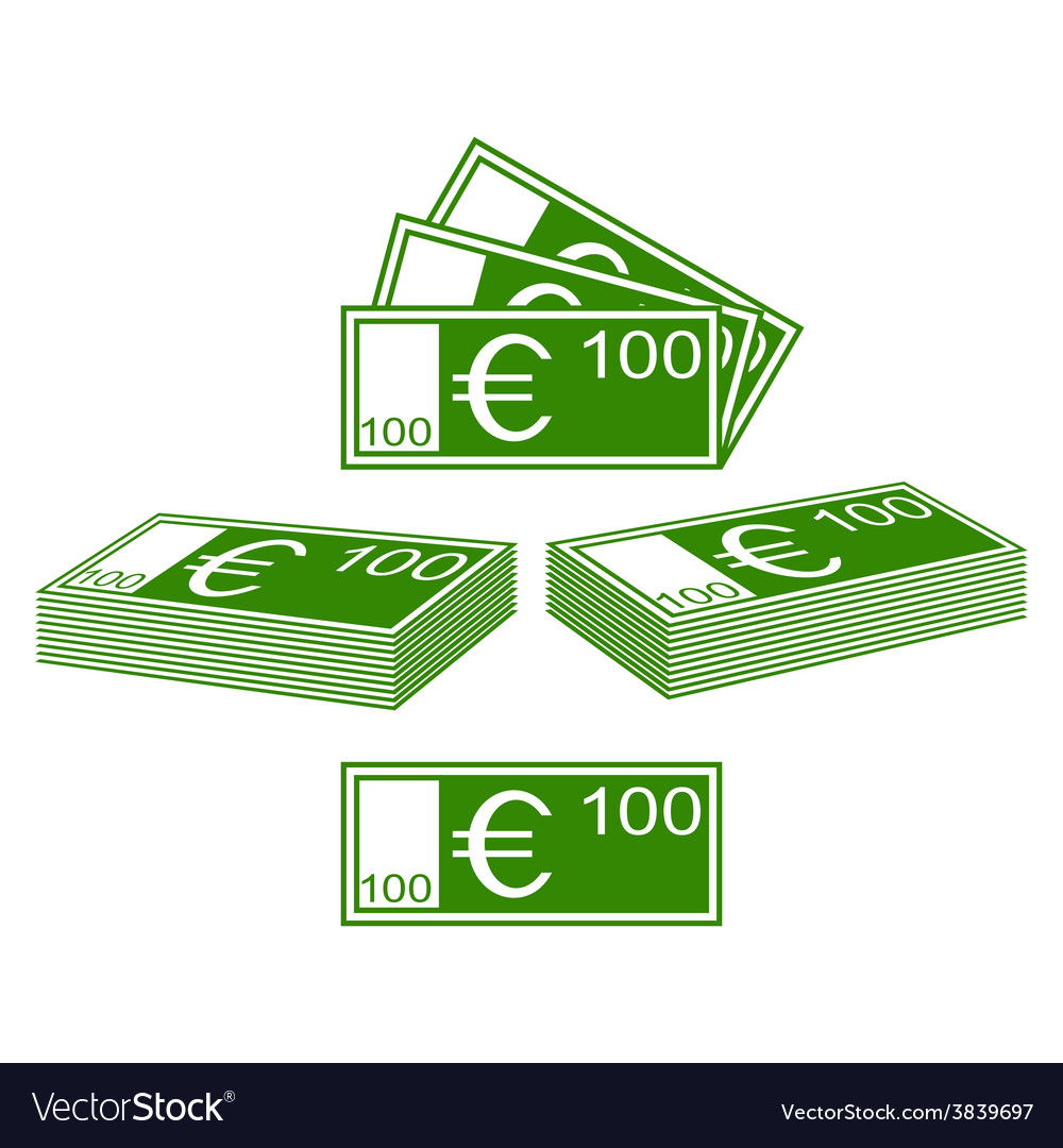 Euro set vector image