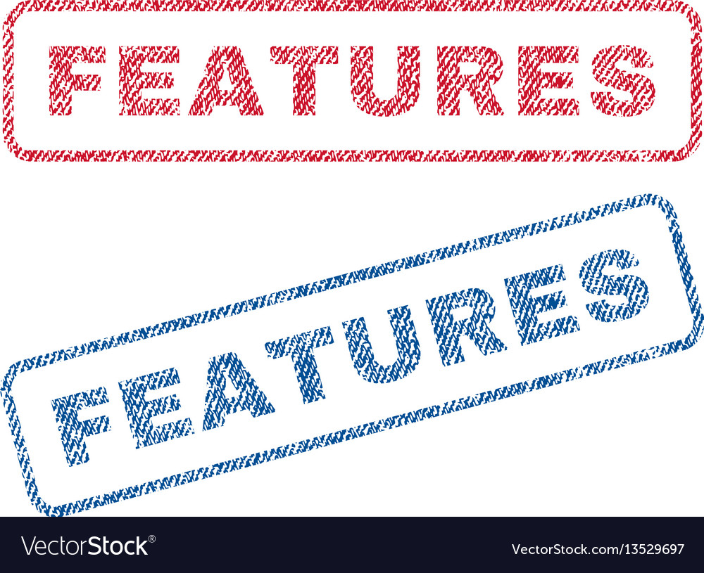 Features textile stamps vector image