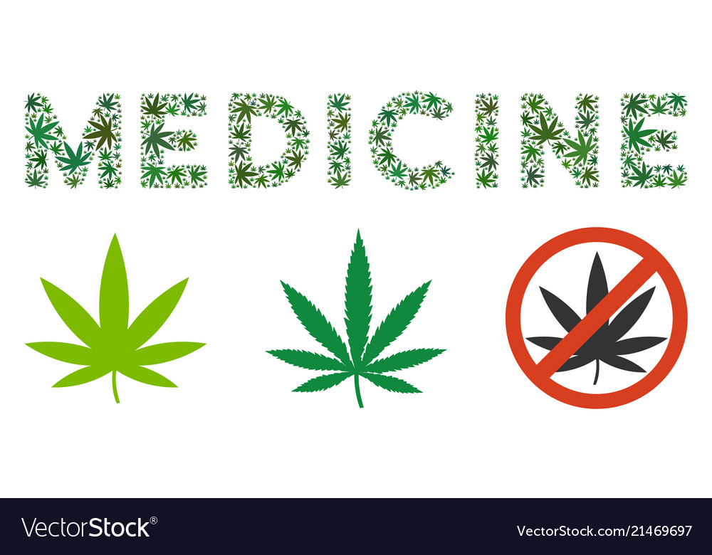 Medicine Text Mosaic Of Marijuana Royalty Free Vector Image
