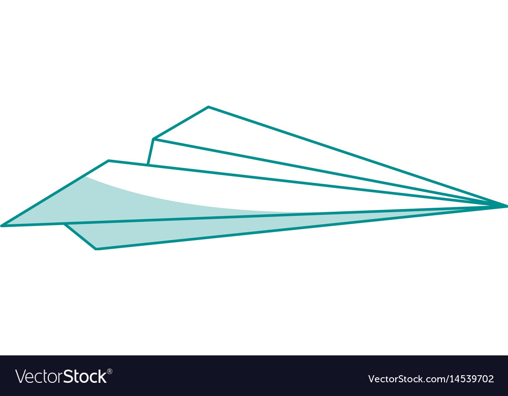 Blue silhouette shading airplane of paper toy